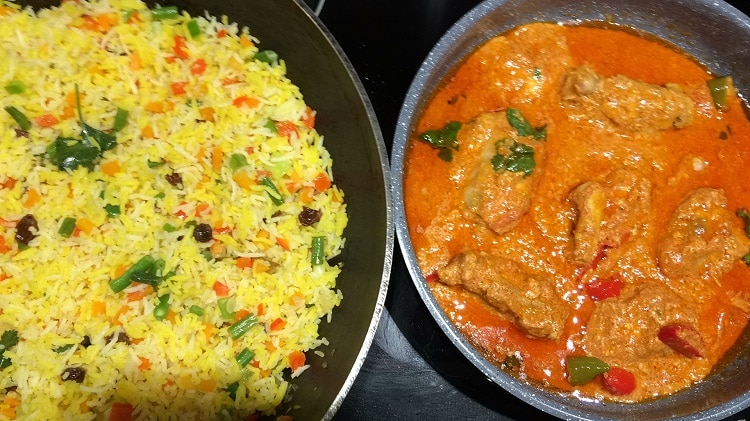 Butter Chicken and pilau