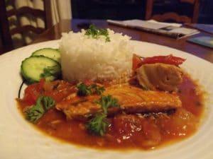 Caribbean Salmon and Rice
