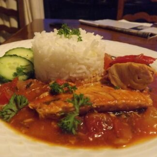 Caribbean Salmon and Rice