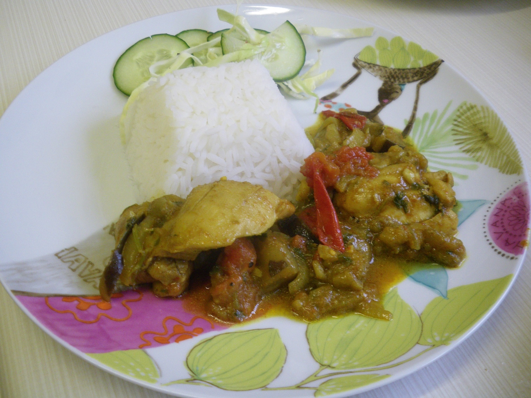 curry chicken and aubergine
