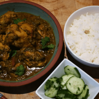 cchicken and aubergine curry
