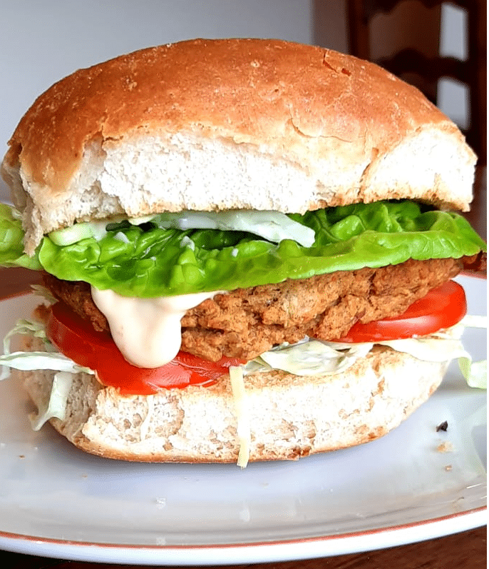 Vegetarian Burger – cannellini and squash make this burger so tasty
